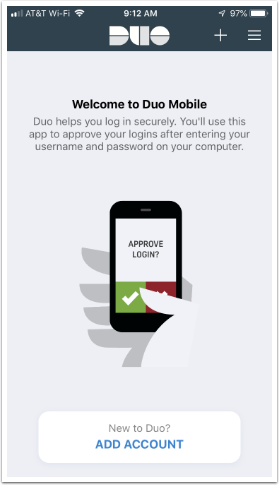 Duo app and adding a new account
