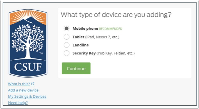 prompt to select a device to add