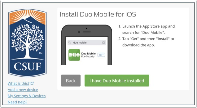 Install Duo Mobile for iOS