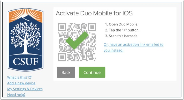 activate duo mobile for ios