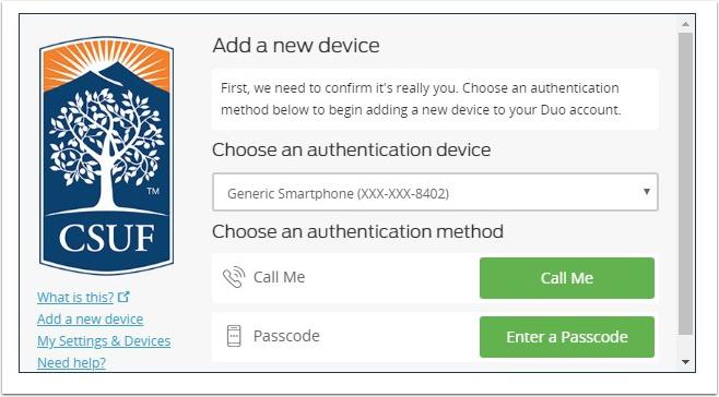 choose an authentication method