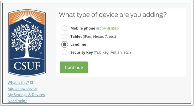 What type of device are you adding