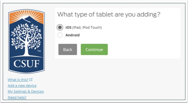 What type of tablet are you adding