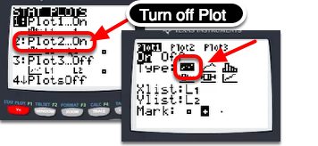 "Go to [2nd] ""STAT PLOT"".  Make sure that only Plot1 is ON.  Then go to Plot 1 and choose the Scatter Plot Icon in Type."