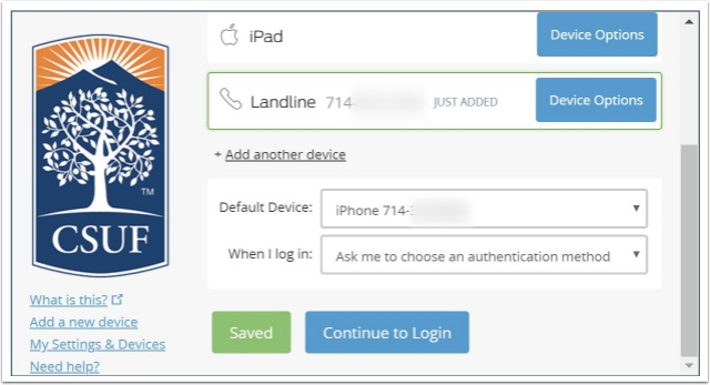 duo devices settings