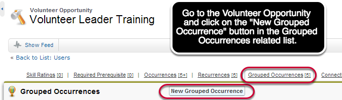 Creating a Grouped Occurrence