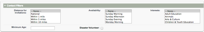 If you get too many search results, you can then apply additional filters to the contact record to hone down the list