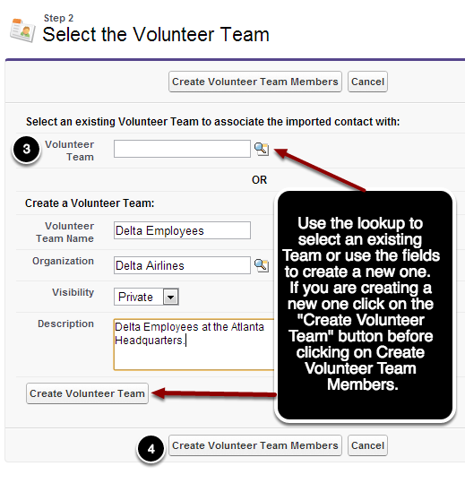 Importing Team Members - Step 2