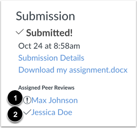 View Assigned Peer Review
