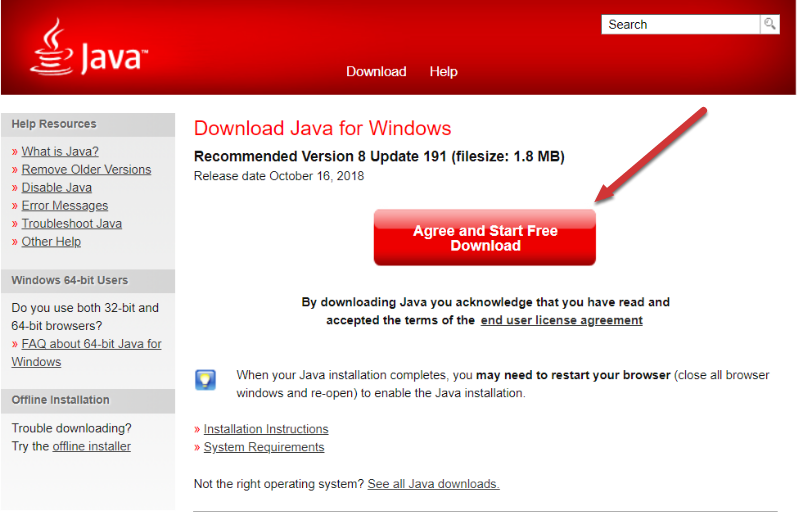 Download Java for Windows - Mozilla Firefox