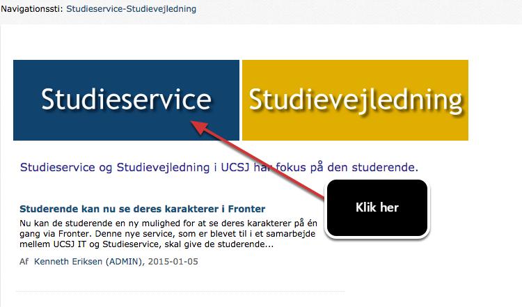 Nu skal du vælge Studieservice
