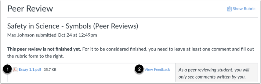 View Peer Review