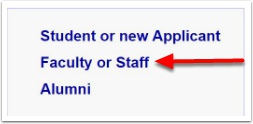 select faculty or staff