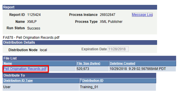 Pell origination PDF file list