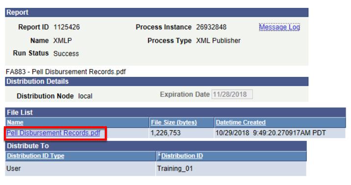 Pell DIsbursement records pdf file