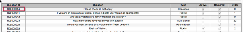 Editing Existing Questions