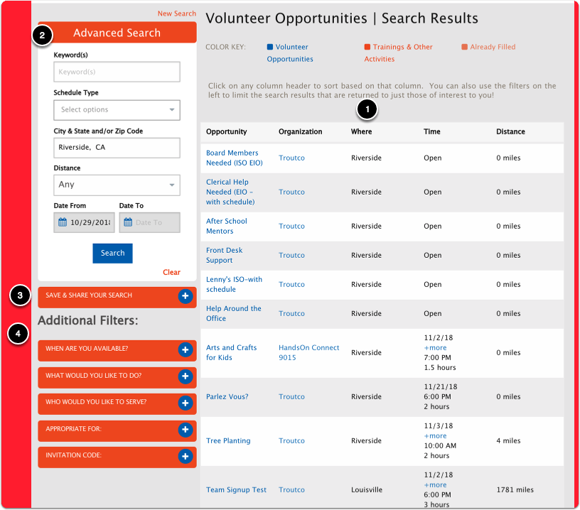 Search Page Layout