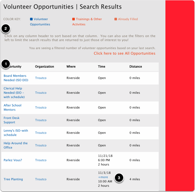 Working with the Search Results Grid