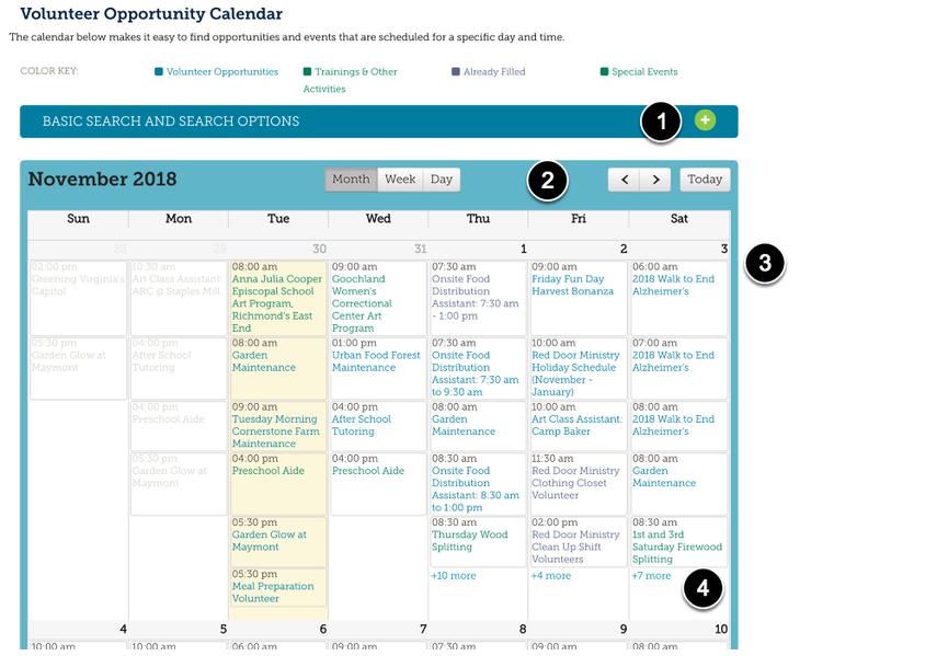 Opportunity Calendar