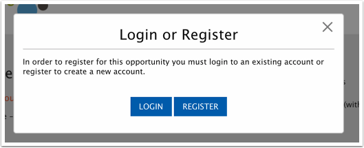 If you are not logged in when you click on a sign-up button you'll be prompted to login or register