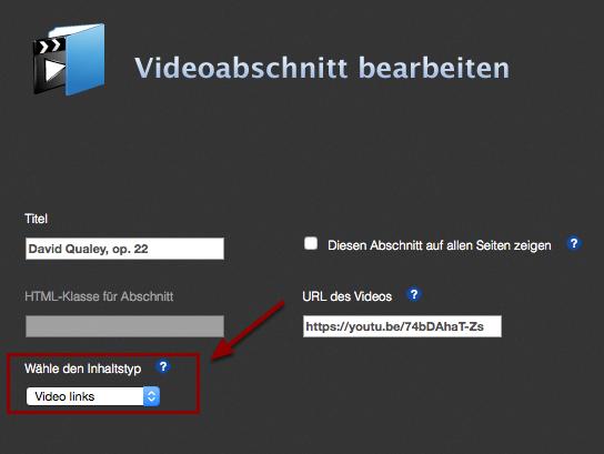 Beispiel für andere Darstellung: Video links, Text rechts