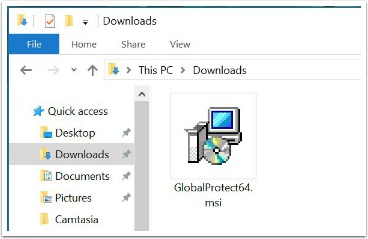 GlobalProtect download installer
