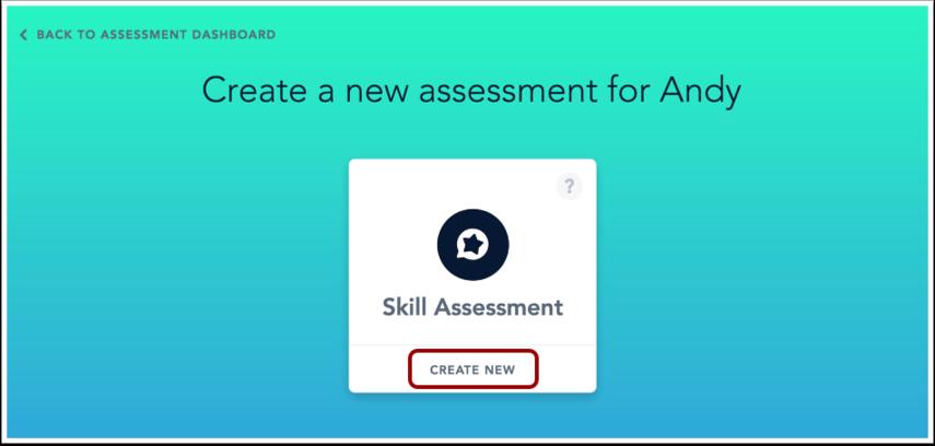 Create Assessment
