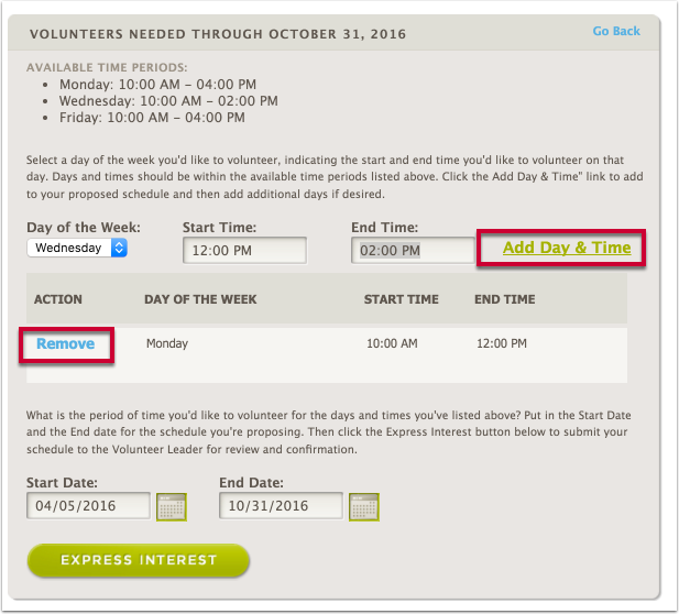 """After clicking 'Add Date and Time"""" you can add additional schedules if you wish"""