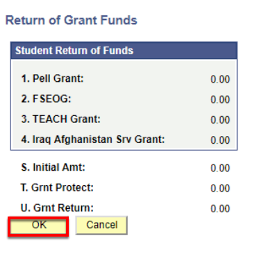 Return of Grant Funds Detail
