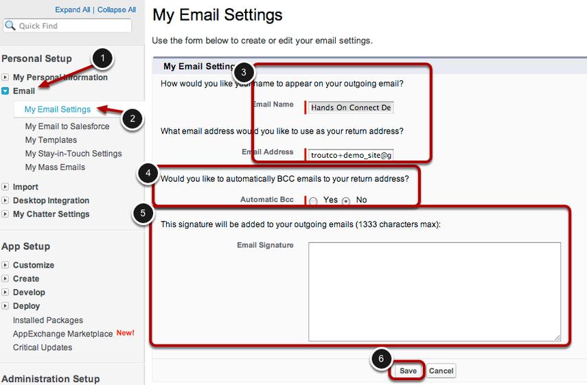 Set Email Preferences