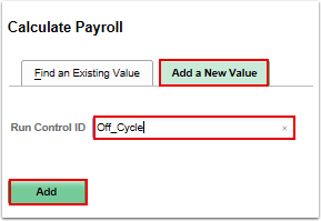 Calculate Payroll add/search page
