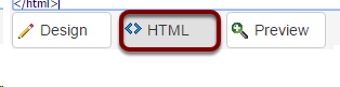 Switching to HTML view