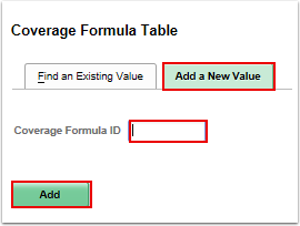 Coverage formula table add a new value