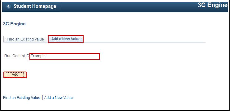 3C Engine Add a New Vallue tab