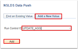 NSLDS Data Push add a new value search page