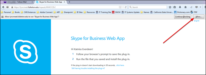 Skype for Business Web App