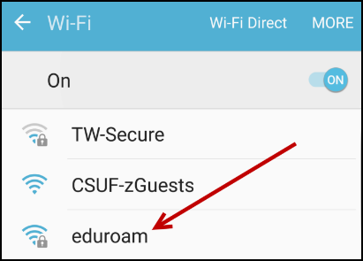 Wi-Fi menu