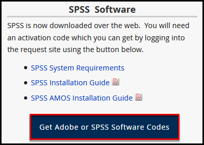 SPSS Software section
