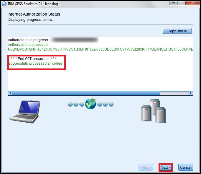 Internet Authorization status
