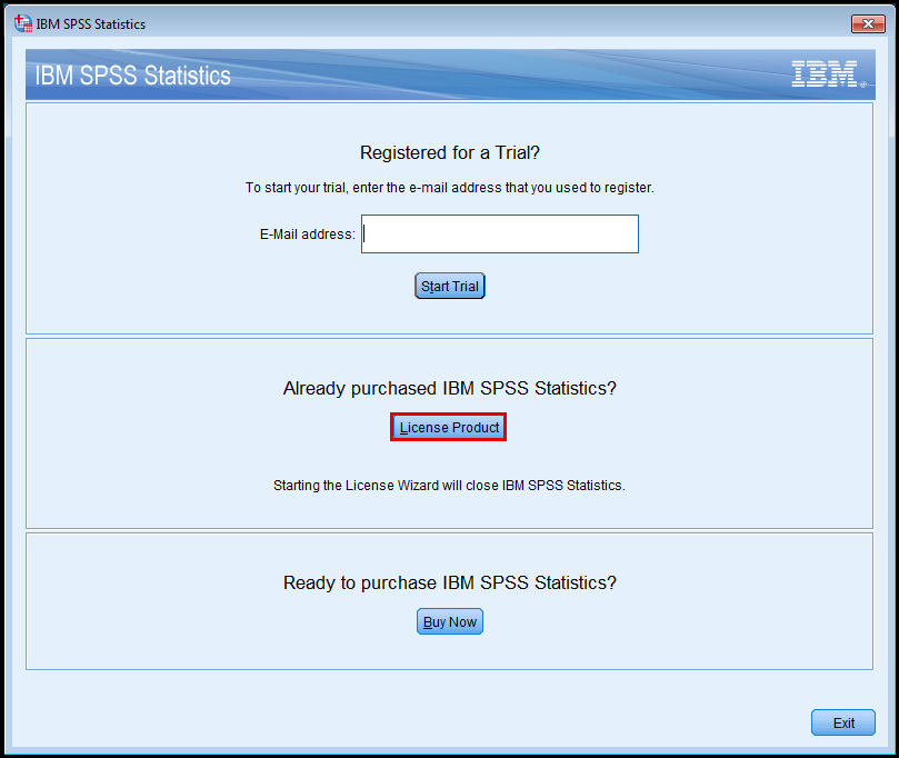 SPSS Statistics registration
