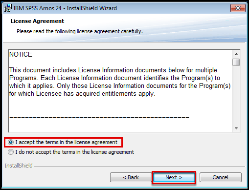 SPSS AMOS license agreement
