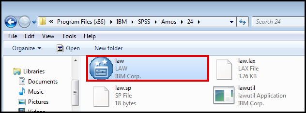 SPSS AMOS license authorization wizard
