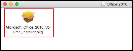 Office 2016 installer package