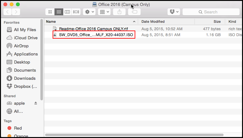 Office 2016 ISO file