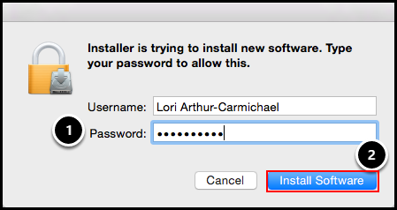 Installation permission screen