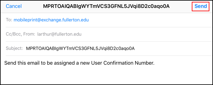 Change Confirmation Number Email Request