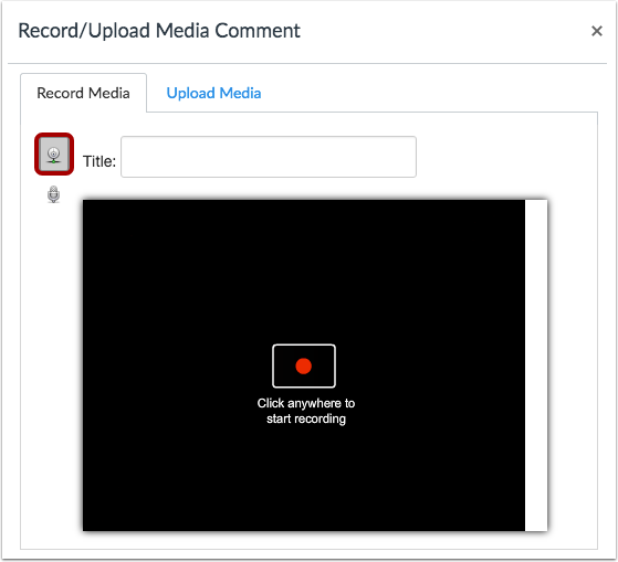 Select Video Recording Option