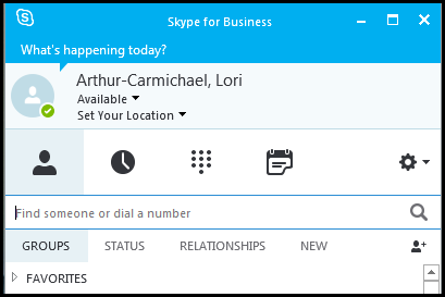 Skype for Business desktop client