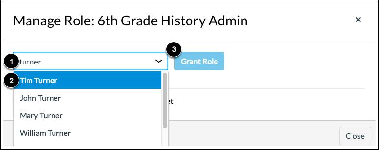 Grant Custom Role