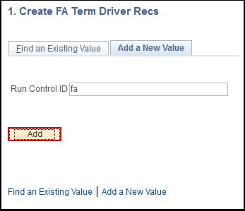 Create FA Term Driver Recs run control page